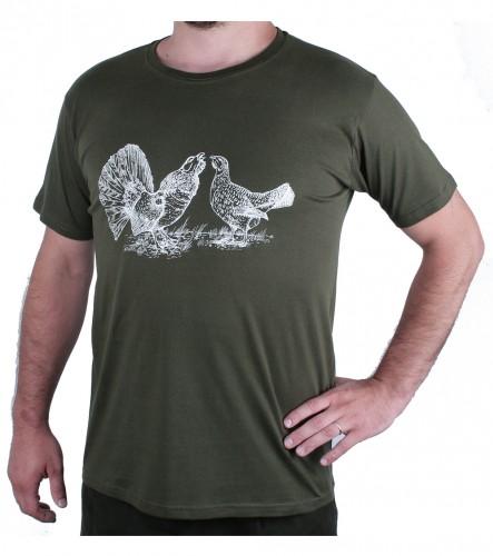 Zelené myslivecké tričko AFARS tok tetřevů