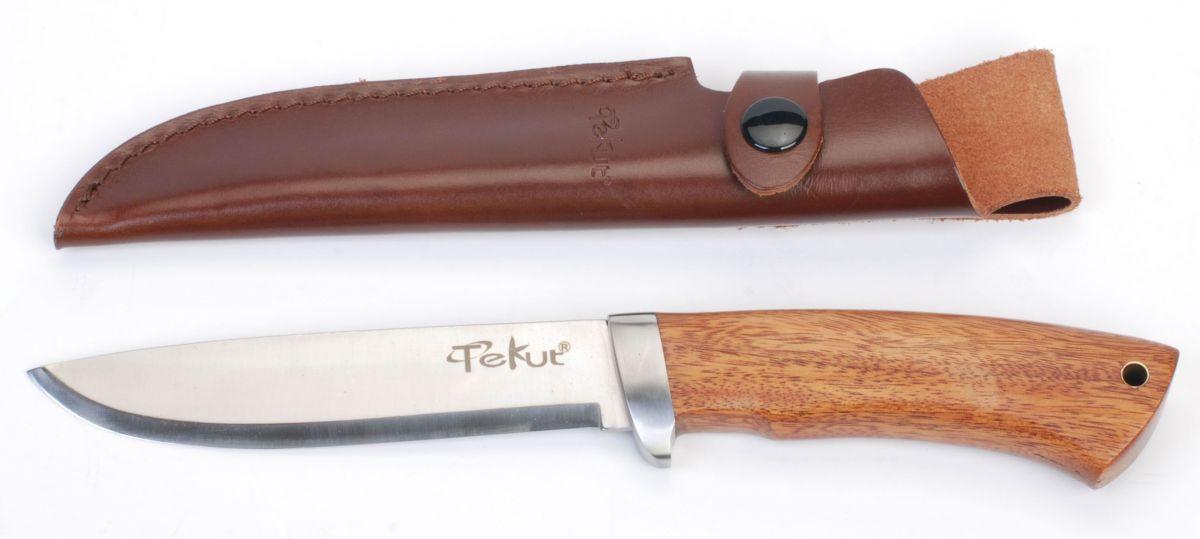 Lovecký nůž, rukojeť tropické dřevo Cocobolo 13cm