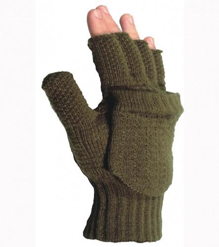 Rukavice pletené bez prstů