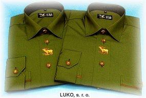 Pánská košile ze 100% bavlny s výšivkou model 092227
