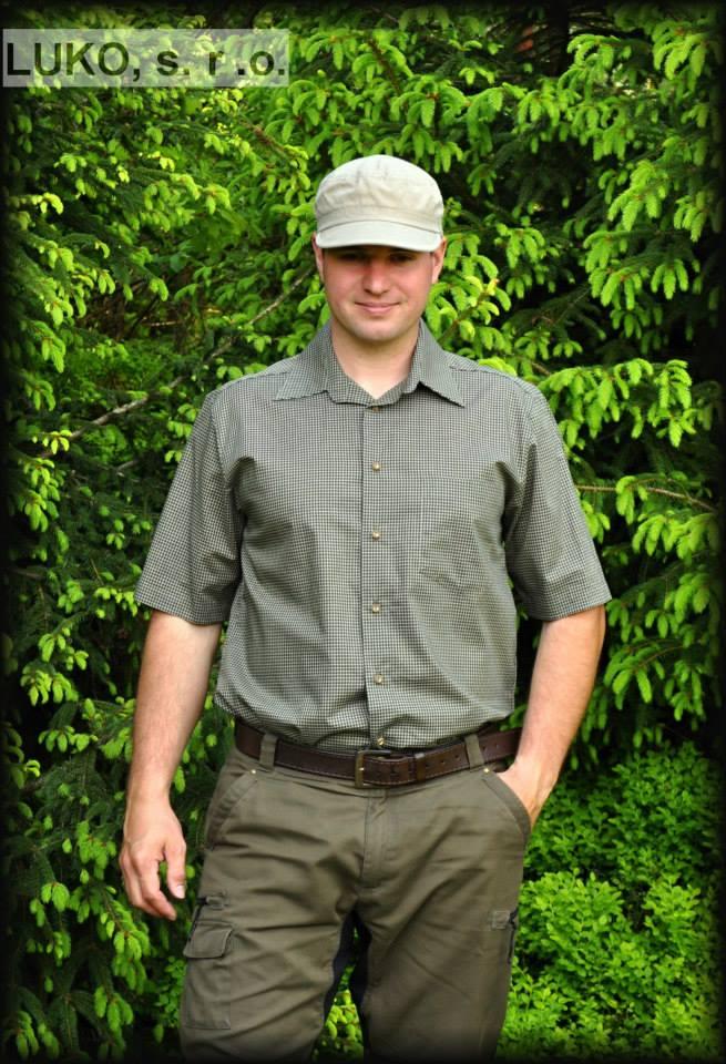 Pánská košile s krátkým ruk. model 074137