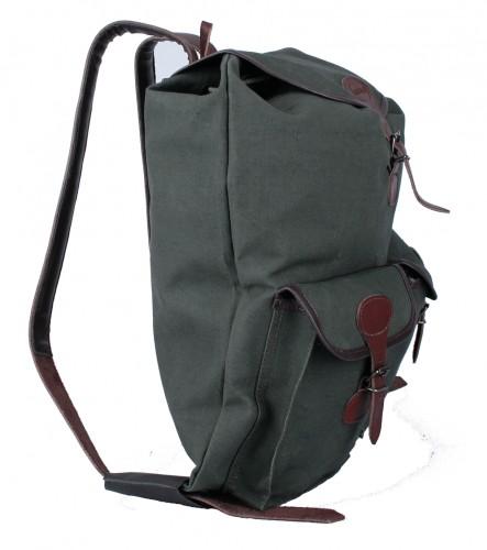 Myslivecký ruksak plátno menší 2 kapsy