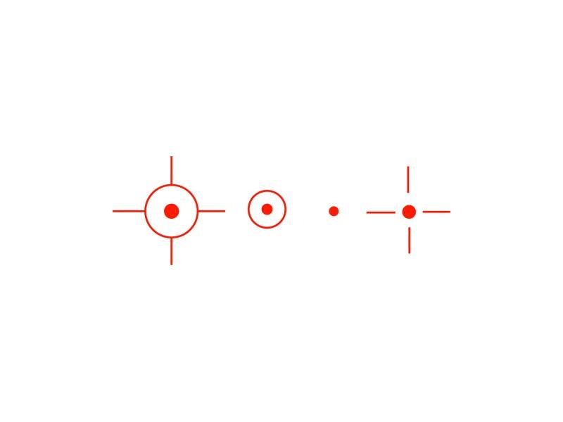 1x22x33 mm kolimator RED (19-21mm)