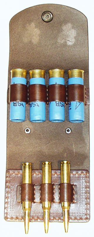pouzdro na 3 kulové a 4 brokové náboje