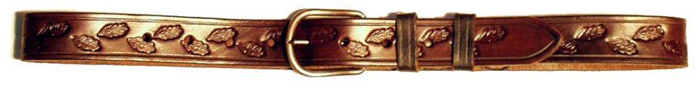 kožený opasek šíře 4 cm