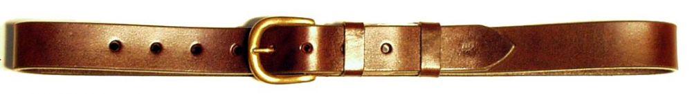 kožený opasek hladký, 3 cm