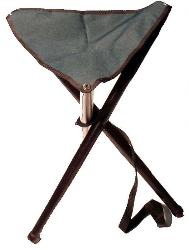 sedací trojnožka malá s textilní dečkou