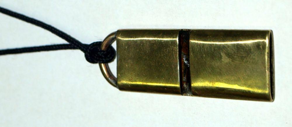 píšťalka na psy kovová - kulový náboj