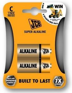 Baterie JCB super alkalická C 2 ks blistr