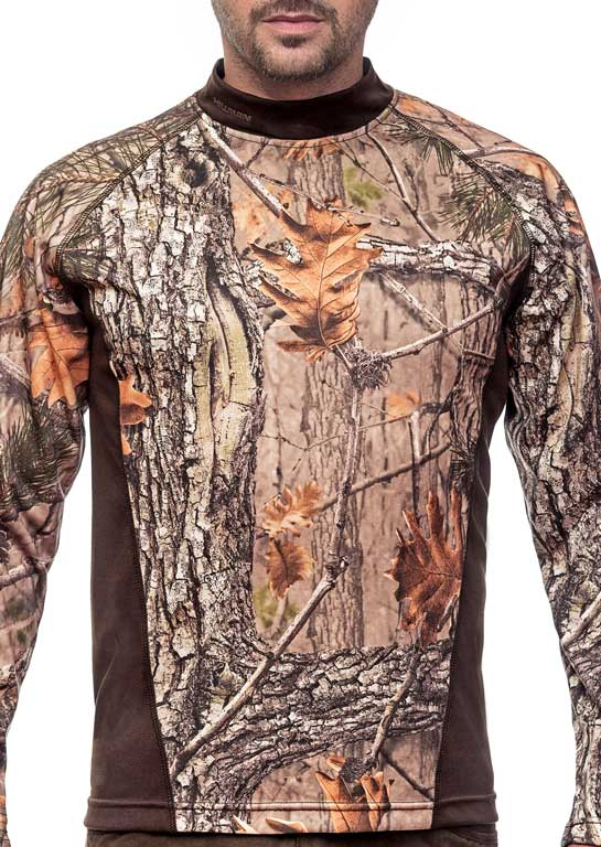 T-shirt Long Sleeve tričko s dlouhým rukávem b. Kamufláž 3DX myslivecké tričko, Hillman