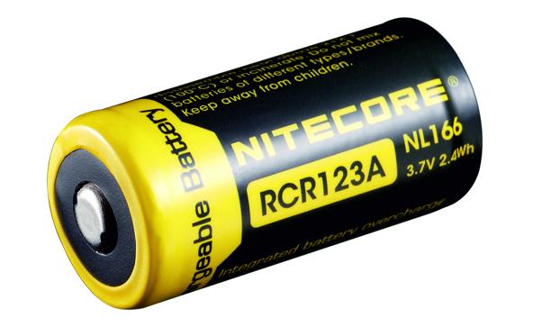 NITECORE RCR123A nabíjecí Li-Ion aku, 650mAh 3,7V 2,4Wh