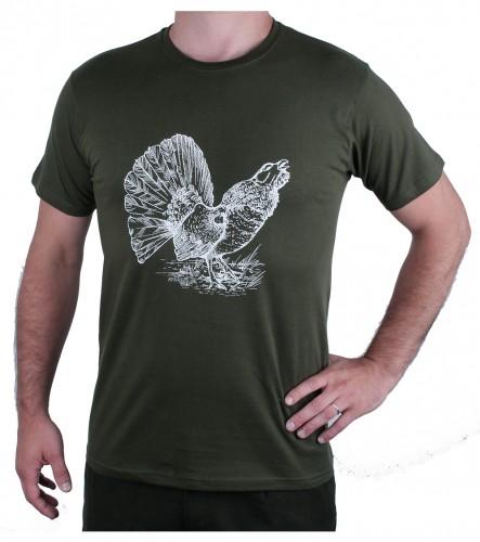 Zelené myslivecké tričko AFARS tetřev
