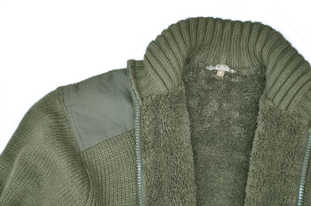 Lovecký svetr Furet s kožíškem výšivka Jelen