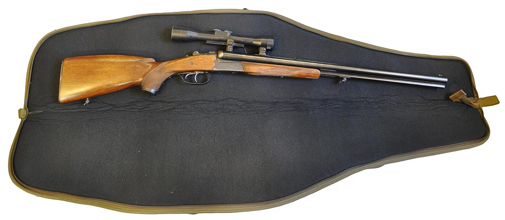 Pouzdro Normandie na zbraň s optikou, dvě vnější kapsy 130cm