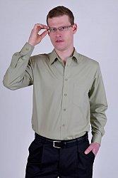 Pánská košile 022237 - zelená (khaki)