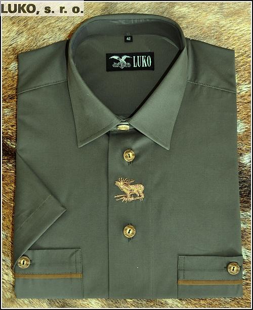 Košile s krátkým rukávem s výšivkou ze 100% bavlny model 094124