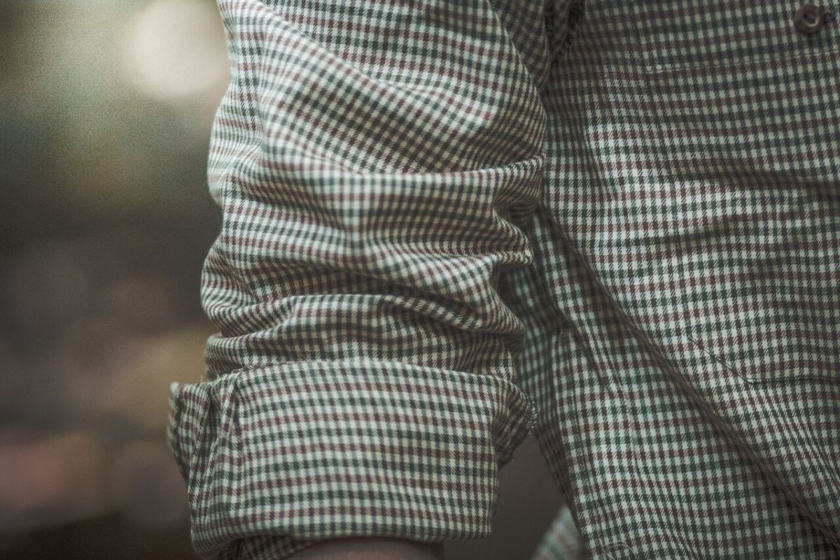 Košile s dlouhým rukávem model 142223 - menší kostka