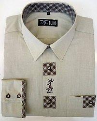 Pánská košile s dl. ruk. a výšivkou model 162112