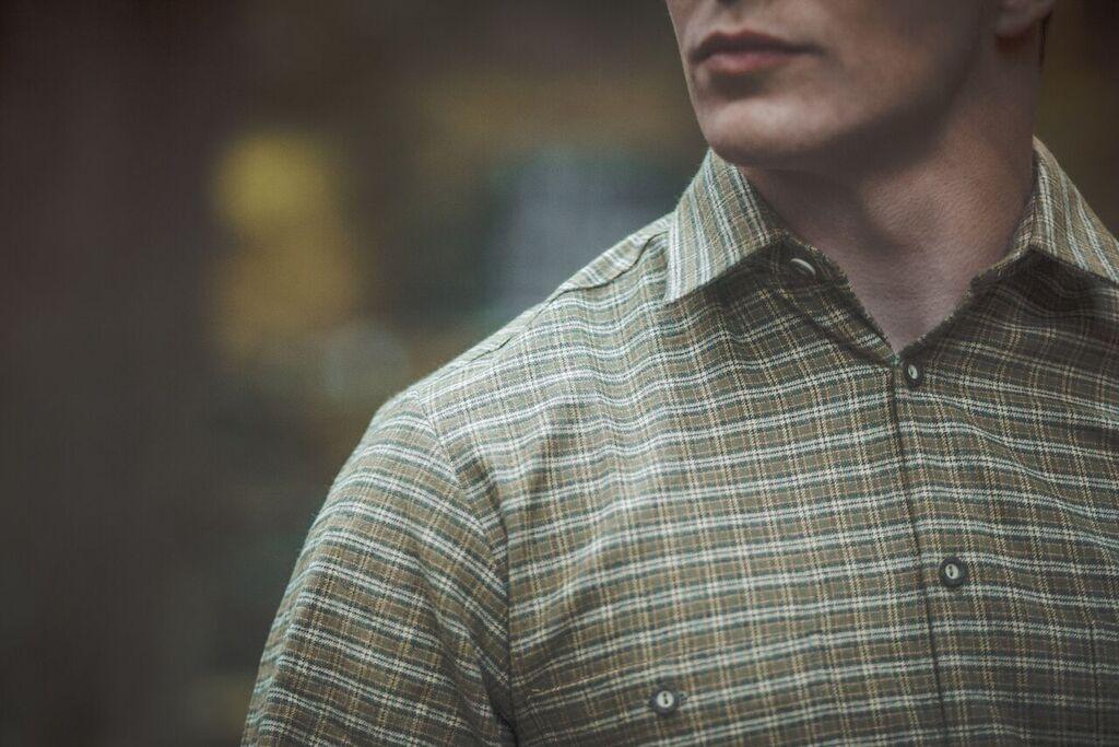 Pánská flanelová košile model 092130