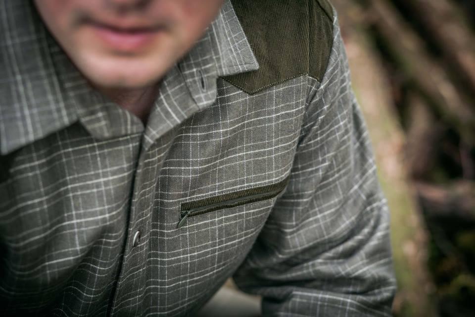 Flanelová košile s kombinací model 112124