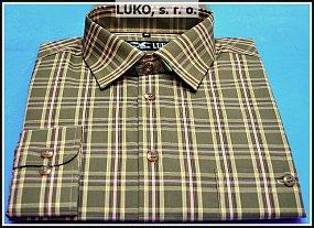 Košile ze směsového materiálu s výrazným podílem bavlny model 112205 zelená