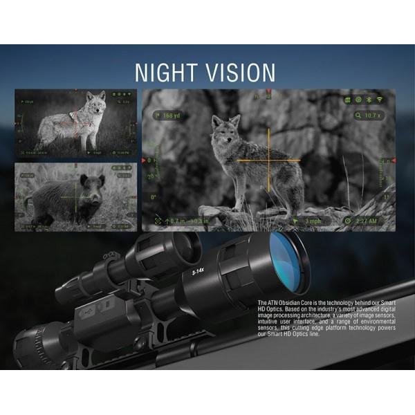 ATN X-Sight 4K Pro 5-20x (denní/noční puškohled)