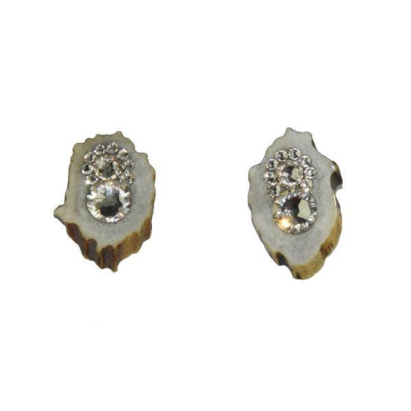Náušnice plné s dříkem ocel 316L Light Silk Swarovski Crystals