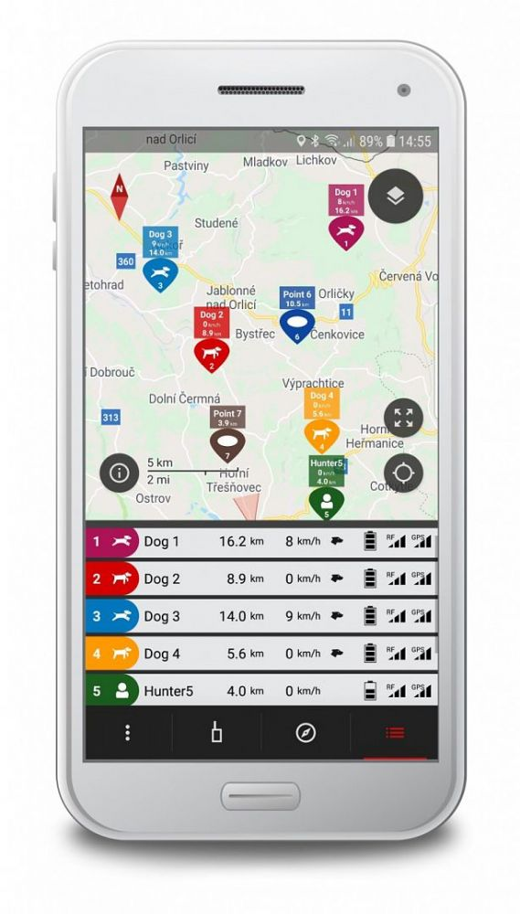 Vyhledávací zařízení DOG GPS X30