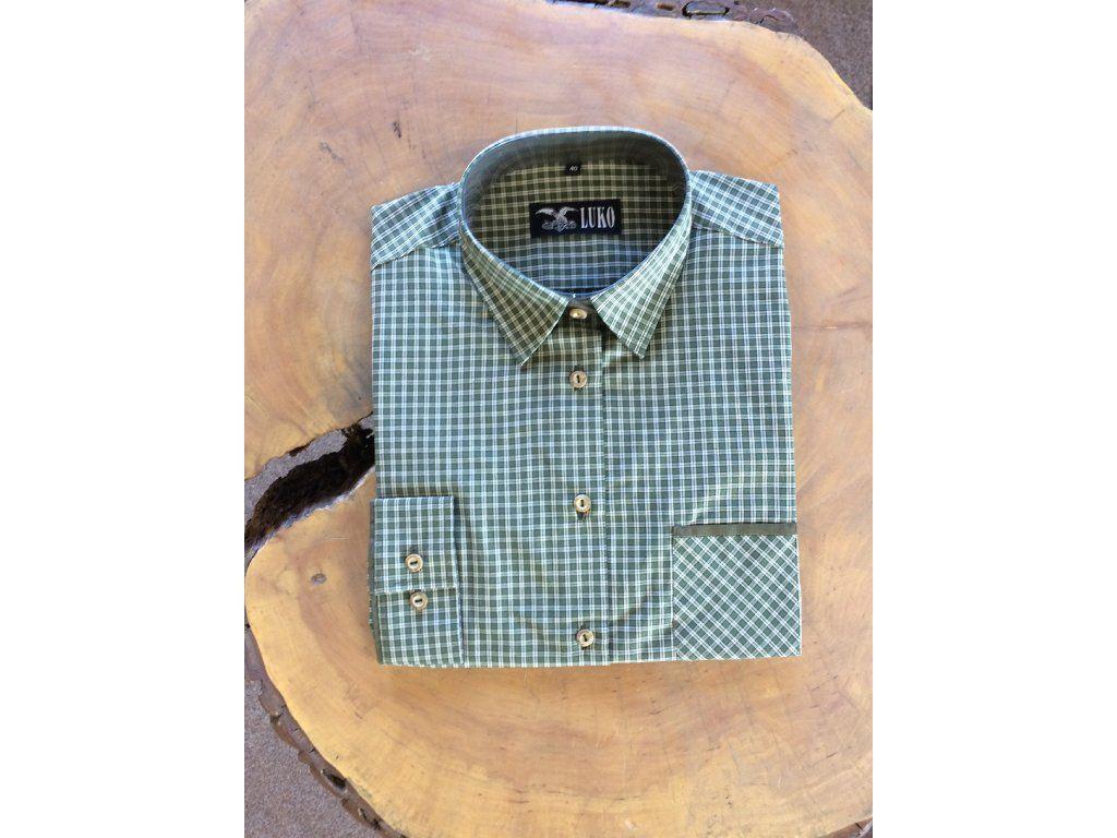 Dámská košile kostka 132226 zelená