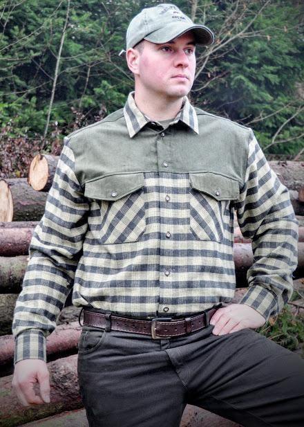 Flanelová košile s kombinací model 142216