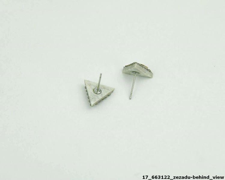 Náušnice trojúhelníček z paroží s Light Amethyst Swarovski Crystals a dříkem z chirurgické oceli 316L 17663122 BD