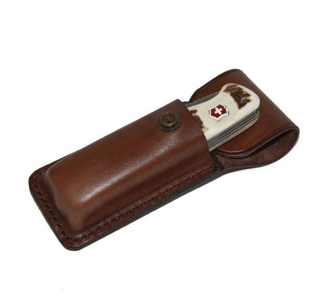 Kožené pouzdro s klipem na opasek na nůž ARTURE Victorinox Ranger