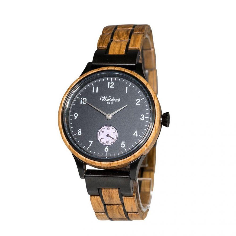 Dámské dřevěné hodinky Gin Black Berry