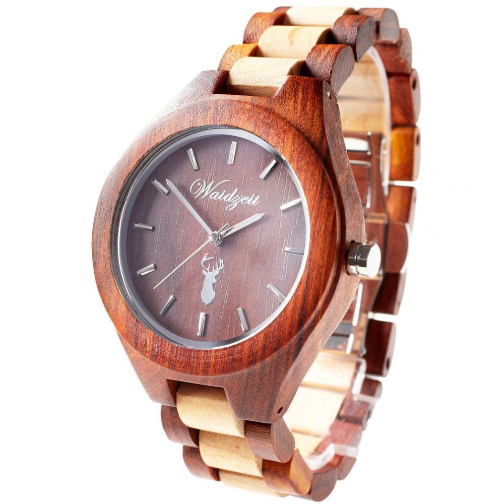 Dřevěné hodinky Auerhahn PLATZHIRSCH