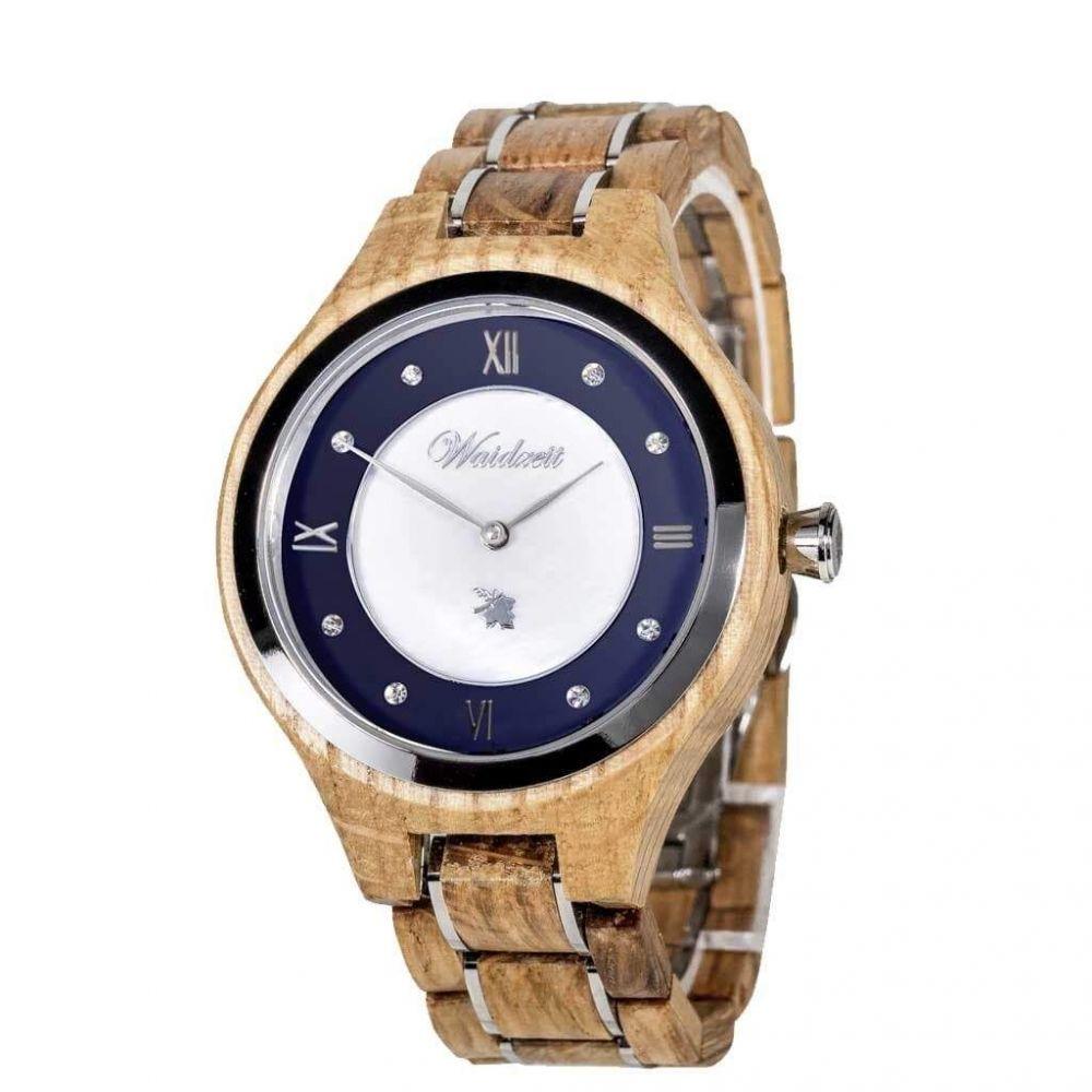Dřevěné hodinky Barrique Bleu Classique