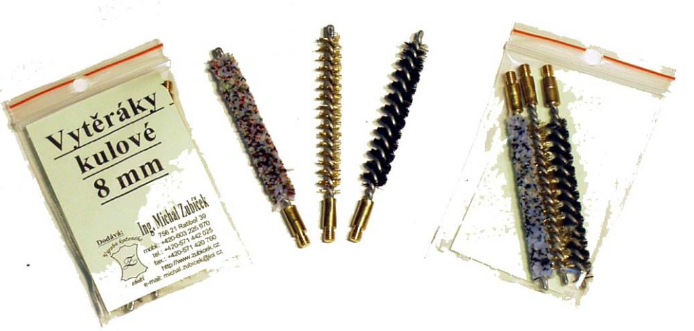 vytěráky - kartáčky (sada tří kusů) - kulové 9 mm