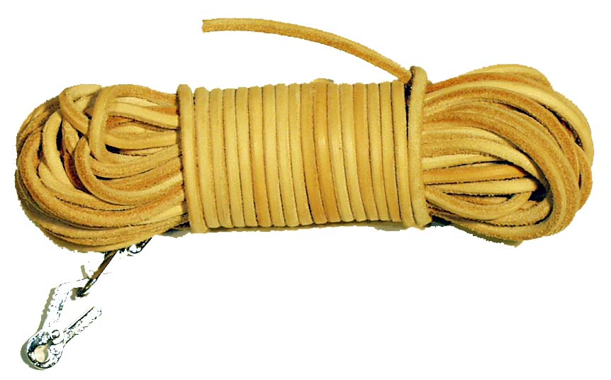 Barvářská šňůra kulatá 4mm ukončená karabinou Sprenger (určeno pro malá plemena) 6m