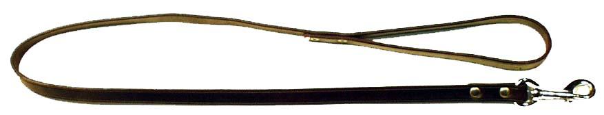 Kožená vodítko do ruky, šíře 2,0 cm plochá kůže - délka 130-150 cm