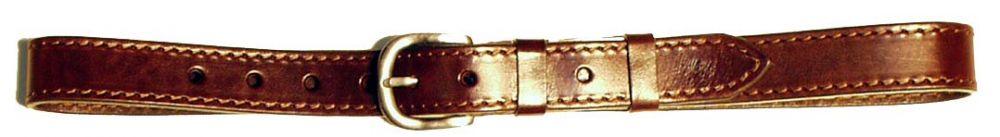 kožený opasek 1x prošitý, 3 cm