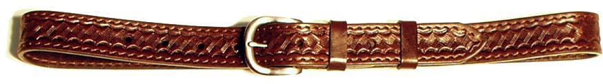 kožený opasek zdobený, 3 cm