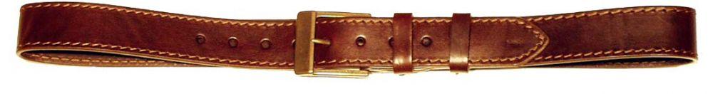 kožený opasek 1x prošitý, 4 cm