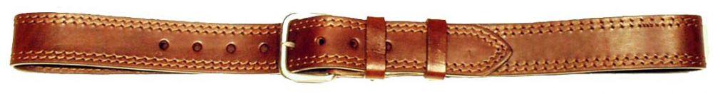 kožený opasek 2x prošitý, 4 cm