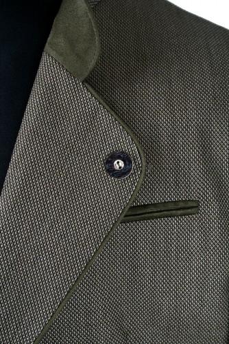 Oblek R - hnědá kostka